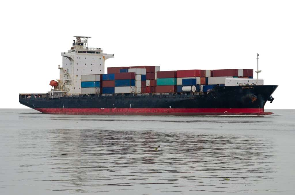 sea freight maritime transportation with full container loads FCL or loose container loads LCL, ISO tank containers, refrigerated container ship cargo