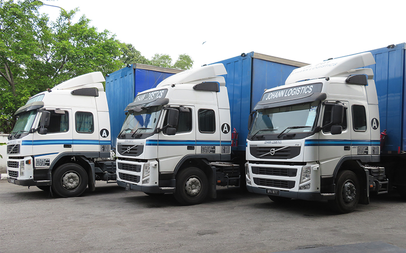 Johann's trucking conventional cargo services are constantly maintained in tip top condition and our drivers are well-trained